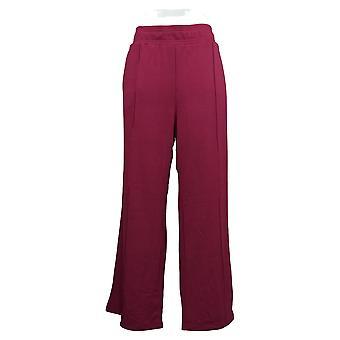 Nogen Kvinder's Bukser Regelmæssig Plys Terry Wide Leg Lilla A345170