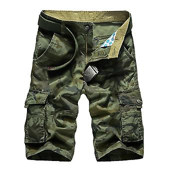 Shorts Menn, Kamuflasje Army Military Casual Beach Bomull Kort