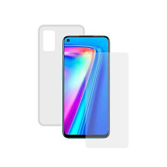 Tempered Glass Mobile Screen Protector + Mobile Case Realme 7 Pro Contact Transparent