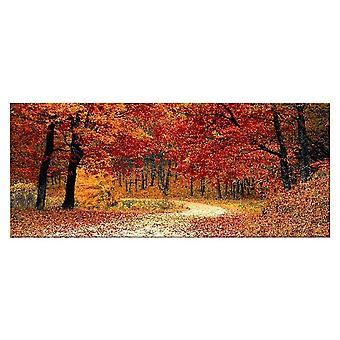 Mehrfarbiges Polyester, Holz, L70xP3xA100 cm Baumplatte