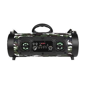 Trådlösa Bluetooth bärbara stereohögtalare utomhus för mobiltelefon USB Mic Mp3