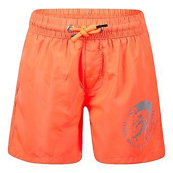 Diesel chlapci oranžové plážové šortky j00183-0bcay k435
