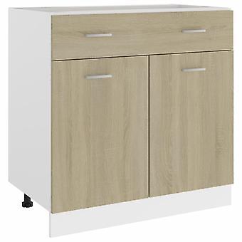 Drawer Bottom Cabinet Sonoma Oak 80x46x81.5 Cm Chipboard
