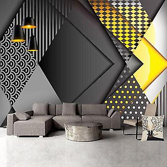 3d Personality Geometry Living Room / Bedroom Background Wallpaper