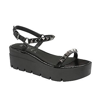 Ravel Manilla Flatform Sandals  - Black