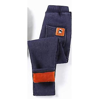Warm Elastic Waist, Thicken Jeans Trousers For & Kids