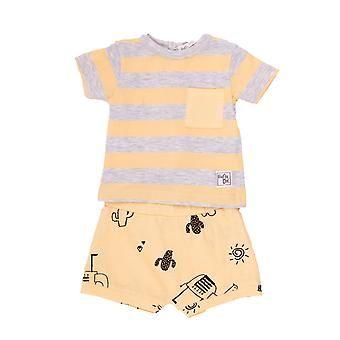 Baby bulb Boys 2-piece clothing kit Vanilla