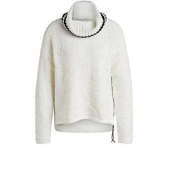 Oui Off White Chunky Knit Jumper