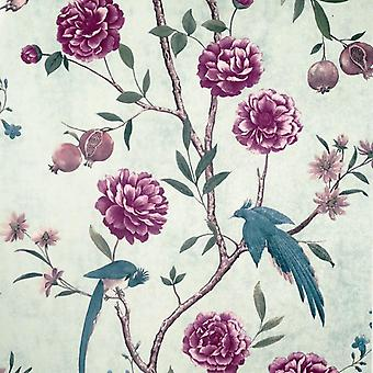 Chinoise Floral Mint Wallpaper