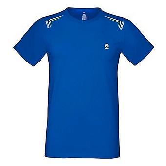 Men�s Short Sleeve T-Shirt Sparco Skid Electric blue/XXL