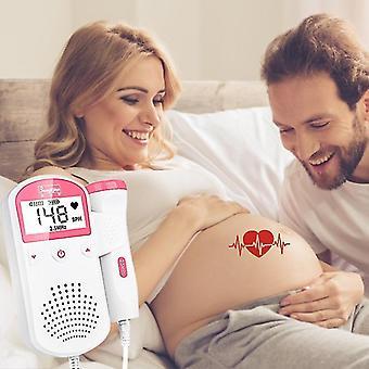 Sikiön doppler ultraääni vauvamonitori sykemittari kotiin raskaana doppler lcd näyttö kaikuluotain doppler 2,5m ei säteilyä