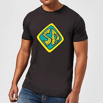 Scooby Doo Emblem Merchandise Mens Short Sleeve T-Shirt Tee Top - Black