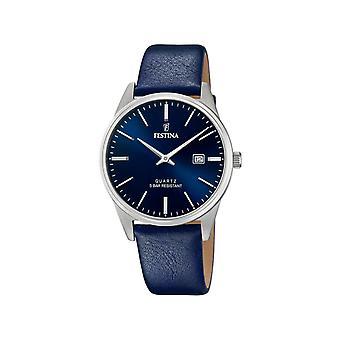Montre homme Festina F20512-3 - Bracelet Cuir Bleu