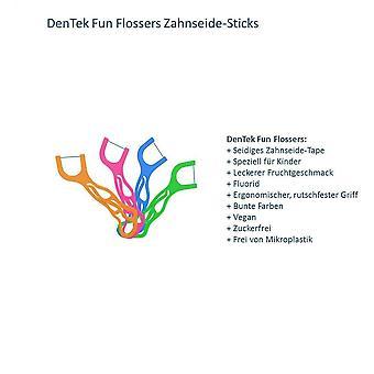 Wokex Fun Flossers Kids - Zahnseide-Sticks speziell fr Kinder - mit Fruchtgeschmack - rutschfester