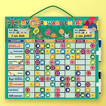 Magnetic Reward Behavior Chores Chart, Board Educational Table, Calendar Kids
