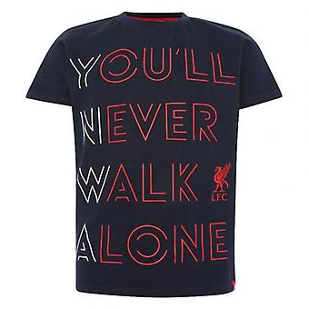 ליברפול אתה אף פעם לא הולך לבד חולצת ג'וניור חיל הים 11-12