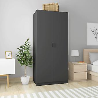 vidaXL armoire gris 90×52×200 cm panneau de particules