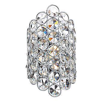 DAR FROST Wall Light Poli Chrome et Cristal à facettes, 1x G9