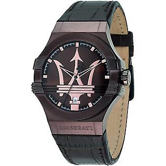 Maserati R8851108011 Men's Dark Brown Strap Potenza Wristwatch