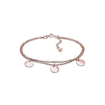 Elli Ladies Circle Layer Geo Plate Bracelet in Silver 925(2)