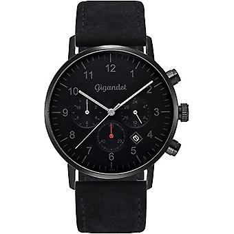 Gigandet Minimalism Mens Watch Dual Time Watch analog with leather strap G21-004