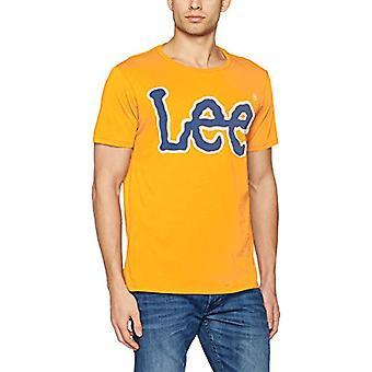 Lee Logo Tee, Herr T-Shirt, Elfenben (Strålande Gul Lg), Liten