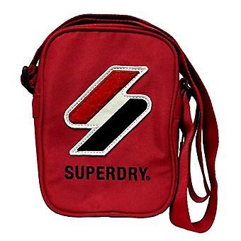Superdry Sportstyle Side Bag, Miesten olkalaukku, Riski punainen, Yksi koko