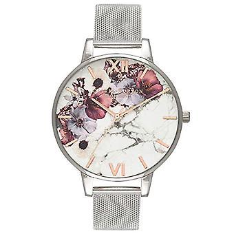 Olivia Burton Analog Quartz Watch with Stainless Steel Strap OB16MF09