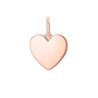 s.Oliver, naisten riipus, hopea 925 pinnoitettu sydän nousi kultaa kaiverrettu