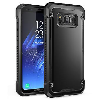 Galaxy S8 Active Case, Enhörningsbagge, SUPCASE, Hybrid Bumper Case - Svart