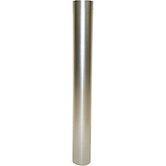 Ofenrohr silber, feueraluminiertes Rauchrohr aus Stahl für sichere Ableitung von Verbrennungsgasen,