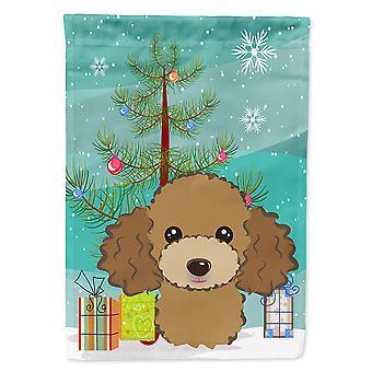 Caroline's Treasures Bb1628Gf Albero di Natale e cioccolato Marrone Barodle Garden Flag, Piccolo, Multicolore