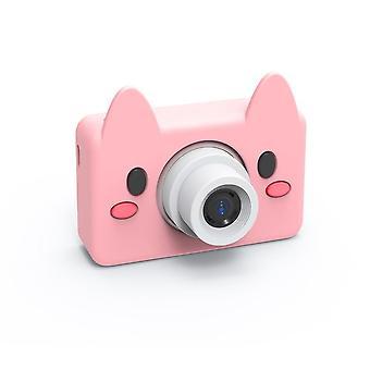 Sarjakuva eläimet lasten digitaalikamera 2 tuuman näyttö hd 8mp 32g Micro Sd -kortilla