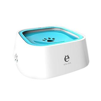Ciotola di acqua potabile blu per animali domestici alimentatore galleggiante aniti-splash cai983