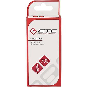 ETC Inre rör 700 x 35-45c Presta