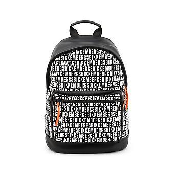 Bikkembergs - Bags - Backpacks - E2APME810075B01-Black-White - Men - black,white