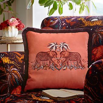 Zambezi Spotted Elephant Cushion By Emma J Shipley In Flame Orange