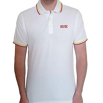 AC/DC - Classic Logo Unisex Pieni T-paita - Valkoinen