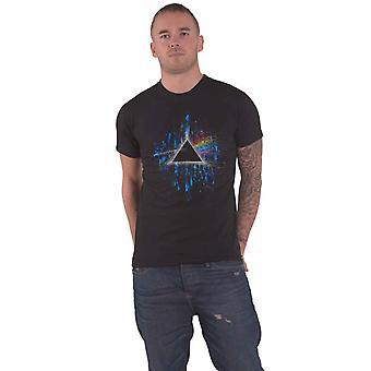 Pink Floyd T Shirt Dark Side of the Moon Blue Splatter new Official Mens Black