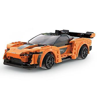 Turuncu uygulama programlama uzaktan kumanda spor araba modeli yapı taşları teknik rc yarış araba tuğla hediyeler oyuncaklar çocuklar fa1576