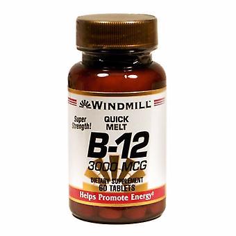 Windmill Health Vitamin B12, 3000mcg, 60 Tabs