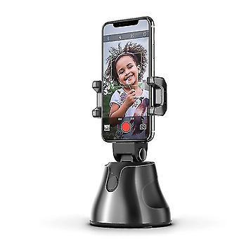 Černá přenosná automatická inteligentní selfie tyč all-in-one, 360'ã chytré sledování (černá)