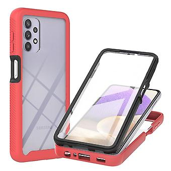 Case For Samsung Galaxy A32 5g Screenprotector Bumper Transparent - Red