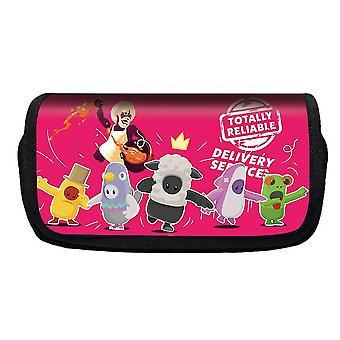 Jelly Bean Fall Guys Double Flap Pencil Case Polyester Pour Enfants Etui (Couleur-15)