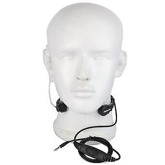 1Pin 3.5mm ptt keel mic oortje heimelijke lucht buis headset met langzame rebound oordopje voor mobiele telefoon c9038a