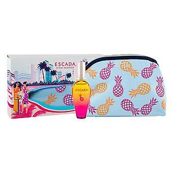Escada miami blossom coffret cadeau 30ml edt + sac cosmétique