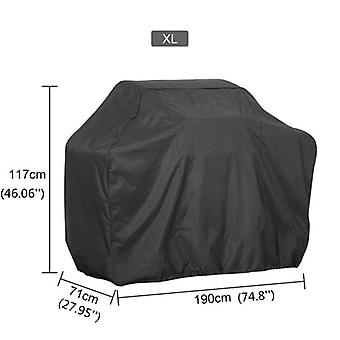 Waterproof bbq cover anti-dust outdoor duty charbroil grill cover rain protective barbecue cover black