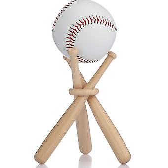 Support d'affichage de baseball en bois Mini support de softball et bases pour les fans de joueurs