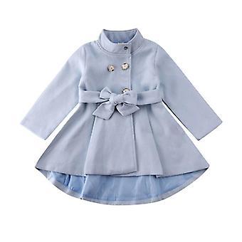 Babymantel Herbst Winter Warm Windbreaker Schleife Outwear Mantel