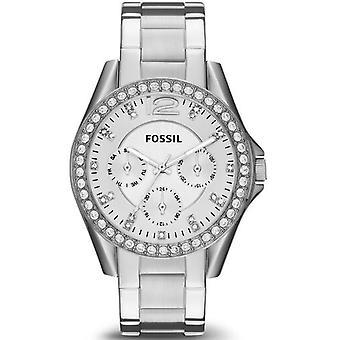 化石ライリー多機能クリスタルダイヤルEs3202女性用時計